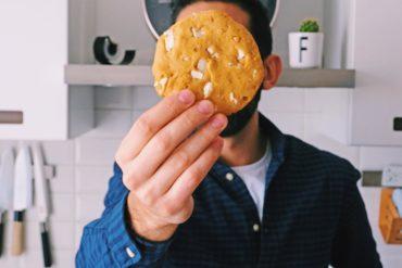 american cookies al cioccolato bianco e burro di arachidi