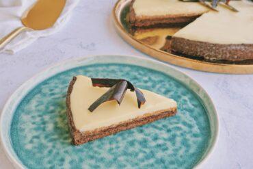 frolla cacao coulis cachi crema ganache cioccolato bianco