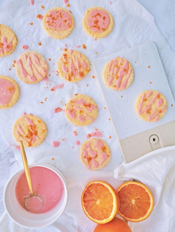 Frollini glassati all'arancia rossa