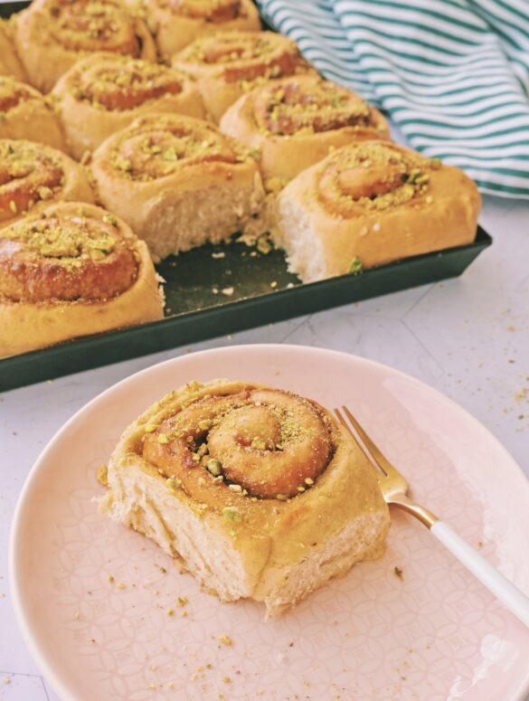 Pistacchio rolls rondelle pistachio